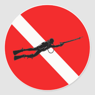 Spearfisherman Sticker