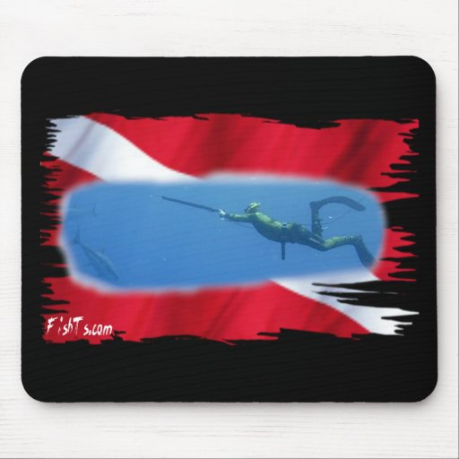 SpearFishing by FishTs.com Mouse Pad