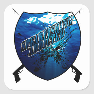 Spearfishing Logo | Fishing | Water Square Sticker