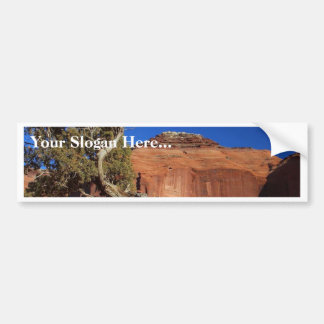 Spearhead Mesa At Monument Valley Car Bumper Sticker
