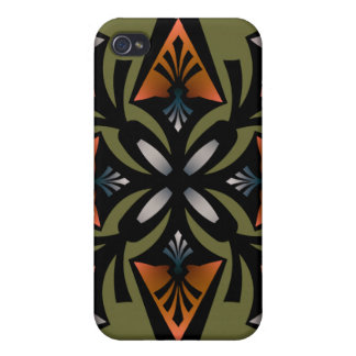 , Spearhead Star, Orange Grey Olive iPhone 4/4S Case
