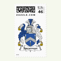 Spearman Family Crest Stamps