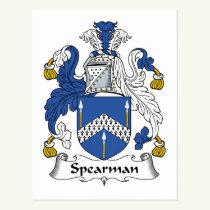 Spearman Family Crest Postcard