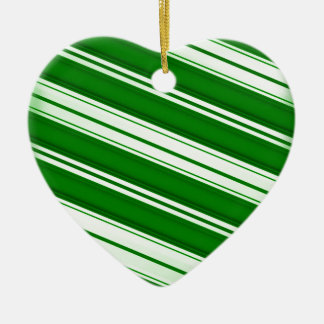 Spearmint candy cane ceramic ornament