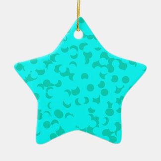 Spearmint Confetti Ceramic Ornament