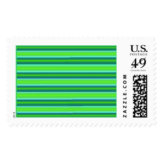Spearmint Lemon Stripes Postage