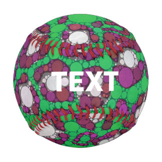 Spearmint Purple Cheetah Abstract Baseball