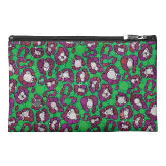 Spearmint Purple Cheetah Abstract Travel Accessory Bag