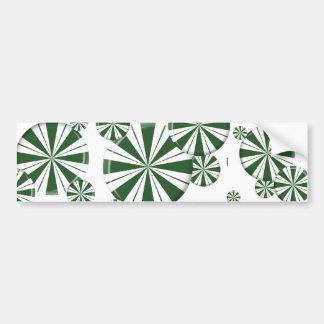 Spearmint Stripe Candy Bumper Stickers