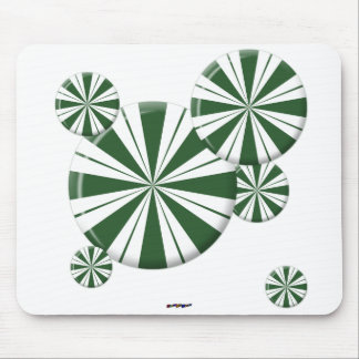 Spearmint Stripe Candy Mouse Pad
