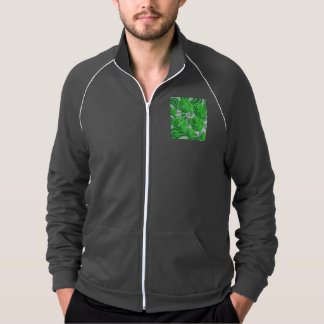 Spearmint Swirl, Abstract Green Lime Pattern Jacket