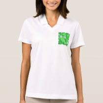 Spearmint Swirl, Abstract Green Lime Pattern Polo Shirt