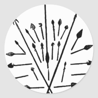 Spears and Arrows Classic Round Sticker