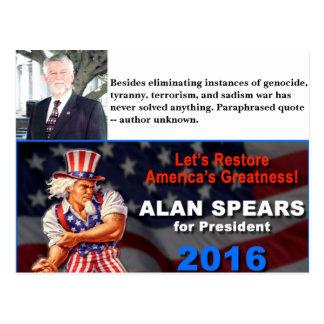 Spears for President Postcard
