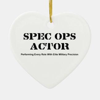 Spec Ops Actor Ceramic Ornament