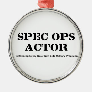 Spec Ops Actor Metal Ornament