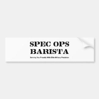 Spec Ops Barista Bumper Sticker