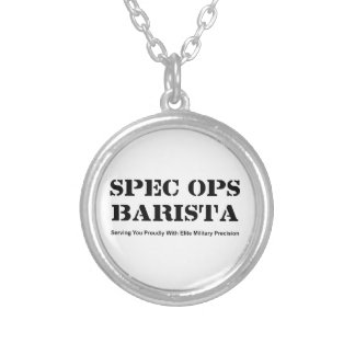 Spec Ops Barista Silver Plated Necklace