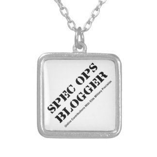 Spec Ops Blogger Silver Plated Necklace