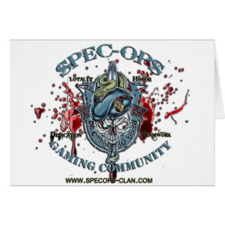 Spec-Ops Gaming Community Logo 2 Bld Card