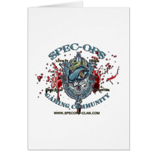 Spec-Ops Gaming Community Logo 2 Bld Greeting Card