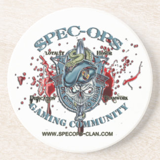 Spec-Ops Gaming Community Logo 2 Bld Coasters