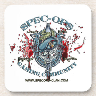 Spec-Ops Gaming Community Logo 2 Bld Coaster