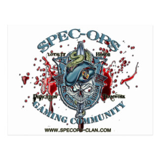 Spec-Ops Gaming Community Logo 2 Bld Postcard