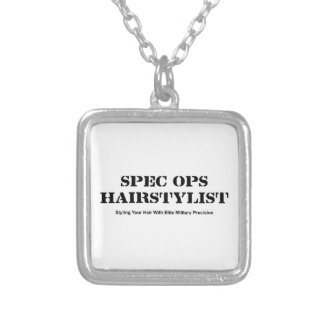 Spec Ops Hair Stylist Silver Plated Necklace