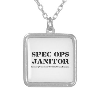Spec Ops Janitor Silver Plated Necklace