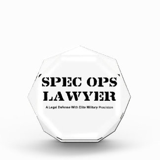 Spec Ops Lawyer - Defense Acrylic Award