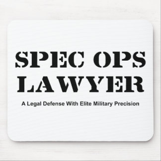 Spec Ops Lawyer - Defense Mouse Pad