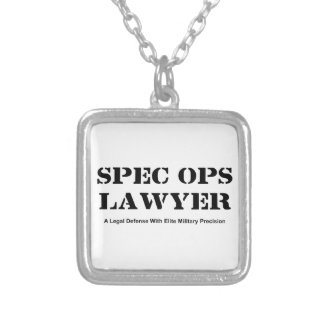 Spec Ops Lawyer - Defense Silver Plated Necklace