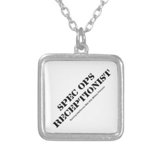 Spec Ops Receptionist Silver Plated Necklace