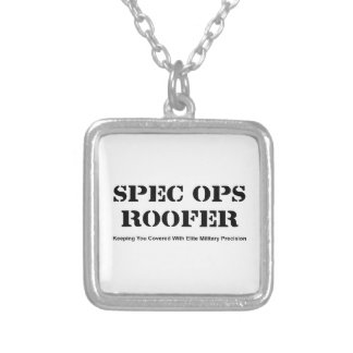 Spec Ops Roofer Silver Plated Necklace