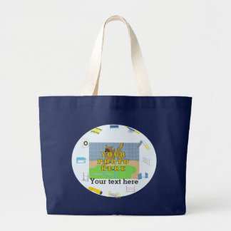 Specail Personal Dog Agility Large Tote Bag