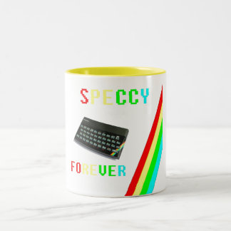 Speccy Forever, Designs By Che Dean Two-Tone Coffee Mug