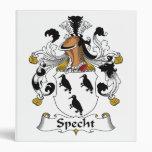 Specht Family Crest Vinyl Binder
