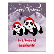 Specia Christmas Holidays Panda Themed Card