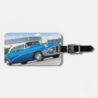 Special 1955 Old Car Blue Classic Vintage Bag Tag