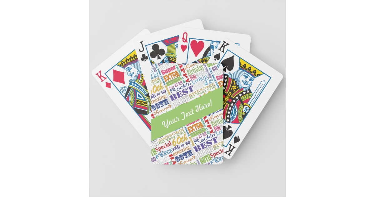 Special 60th Birthday Party Personalized Gifts Bicycle Playing Cards