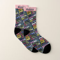 Special 70th Birthday Party Photo Monogram Socks