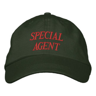 """""""SPECIAL AGENT"""" EMBROIDERED CAP EMBROIDERED BASEBALL CAP"""