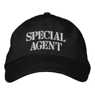 """""""SPECIAL AGENT"""" EMBROIDERED CAP EMBROIDERED HAT"""