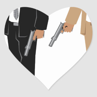 Special Agent Heart Sticker