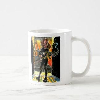 Special Agent Kathrin Night by Bernie Shuman Classic White Coffee Mug