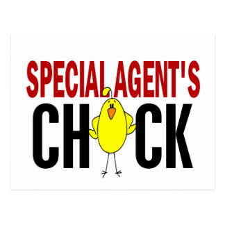 Special Agent's Chick Postcard