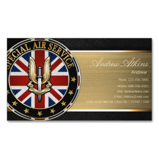 Special Air Service (SAS) Badge [3D] Business Card Magnet