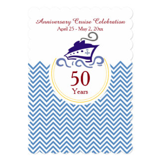Special Anniversary Cruise Celebration Invitation