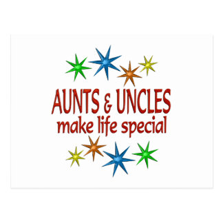Special Aunt and Uncle Postcard
